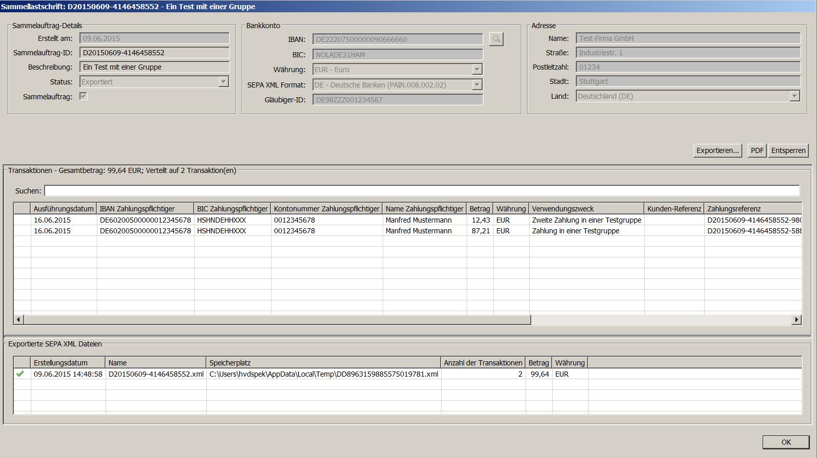 Anleitung - IBANC SEPA Software